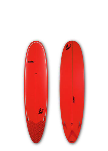 GONG SURF 8'0 ACIDOLLY BAMBY RED MATT FINISH LOGO FLAME BALL