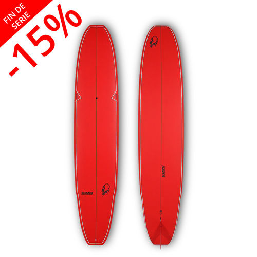 GONG SURF 10'0 INCREDIBLE TEN BAMBY RED MATT FINISH LOGO FLAME BALL