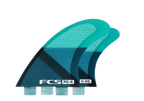 FCS FIN PC5 BLUE SLICE QUAD