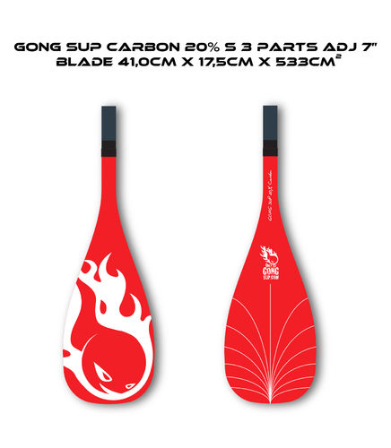 "GONG PAGAIE CARBON 20% S 7"" 3 parties"