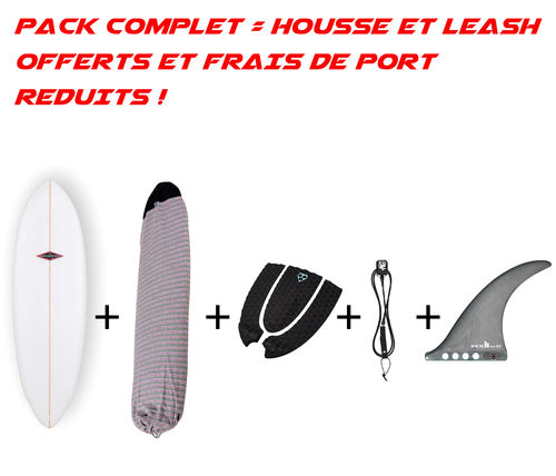 "PACK GONG CARTER 6'0 PU + US FIN FCS WHIP 8"" + SOCK + TAIL PAD + LEASH"