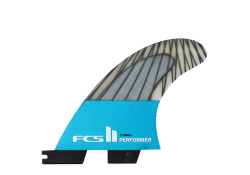 FCS II PERFORMER PC CARBON X-SMALL TRI FIN SET