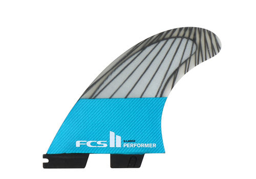 FCS II PERFORMER PC CARBON X-LARGE TRI FIN SET