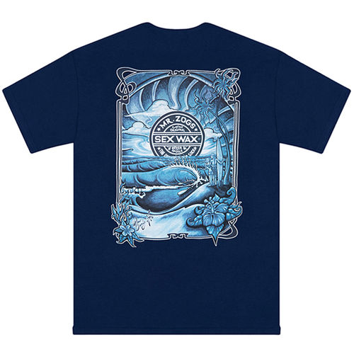 SEX WAX TEE SHIRT SUNRISE - NAVY