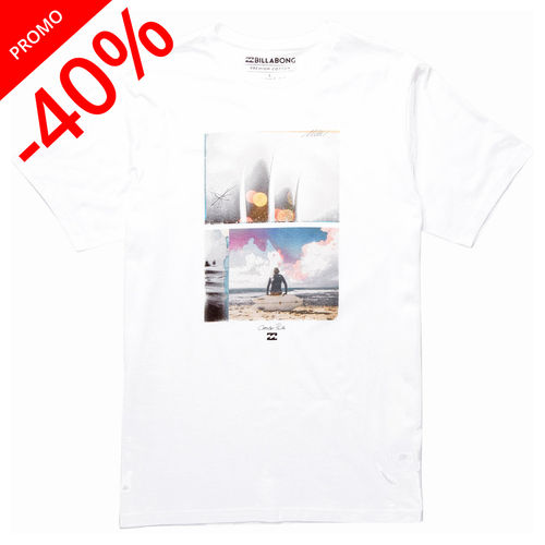 BILLABONG TEE SHIRT QUIVER - BLANC