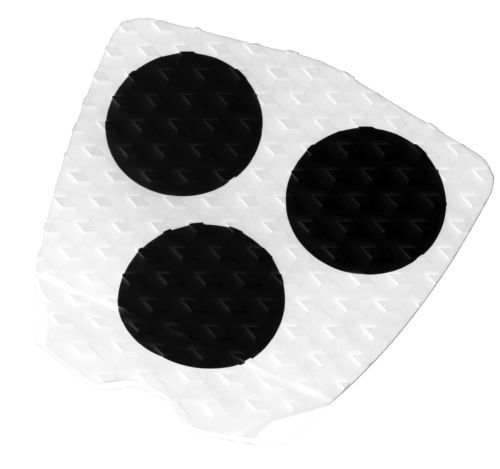 GORILLA TAIL PAD 3 DOT HERITAGE WHITE BLACK