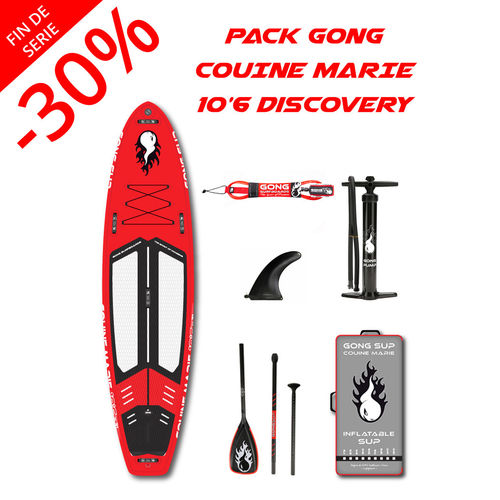 PACK GONG COUINE MARIE DISCOVERY 10'6 PAGAIE AU CHOIX