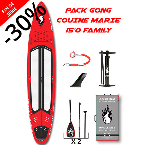 PACK GONG COUINE MARIE FAMILY 15'0 + 2 PAGAIES