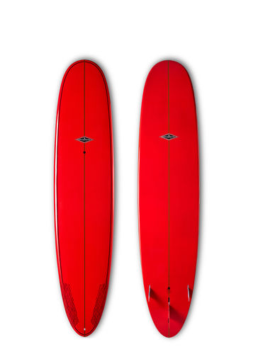GONG SURF 9'2 TEN BLUES BAMBY RED GLOSSY FINISH