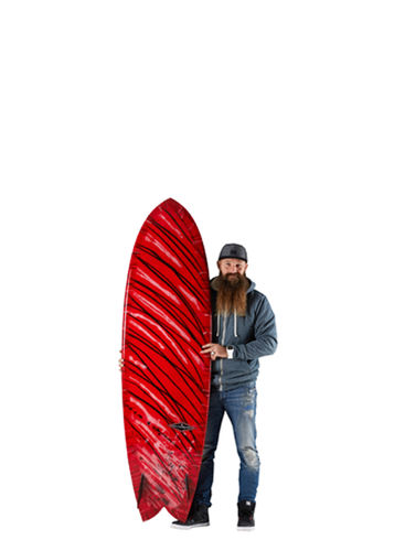 GONG SURF 6'11 PIE RED FLAME PU
