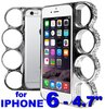 "Coque Iphone 6 / 4.7""  Poing Américain - argent + Strass"