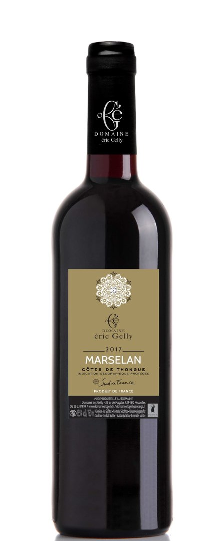 """100% Marselan"" - Rouge - 75 cl"