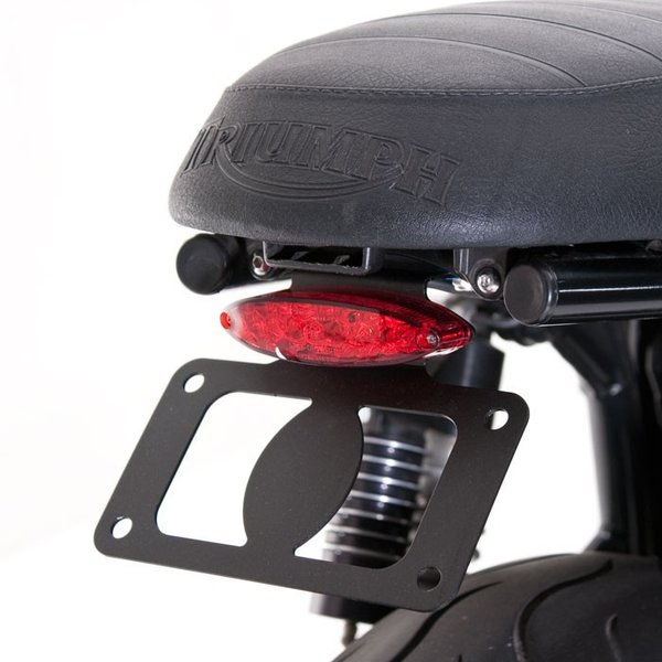 KIT PORTE PLAQUE ET FEU BRITISH CUSTOMS TRIUMPH