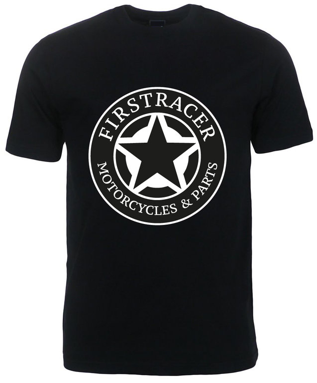 TEE-SHIRT STAR MOTORCYCLES PARTS FIRSTRACER
