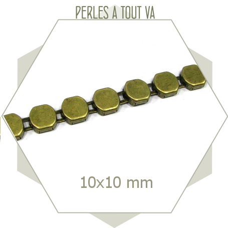 1m de hexagone bronze 10 mm